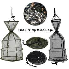 Foldable Fishing Net Mesh Portable Nets Round Folding Cage For Fish Shrimp Crab Tool Accessories