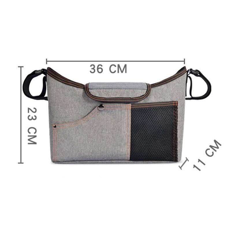 H71c68d034b854a7b8e3b6fcbe5a4e972E Baby Stroller Organizer Nappy Bag Mummy Waterproof Hanging Carriage Bottle Bag Handbag Pram Buggy Cart Organizer Diaper Bag