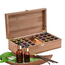 25 Grids Wooden Essential Oil Storage Box DIY Travel Perfume Bottles Protect Container Display Case For Home