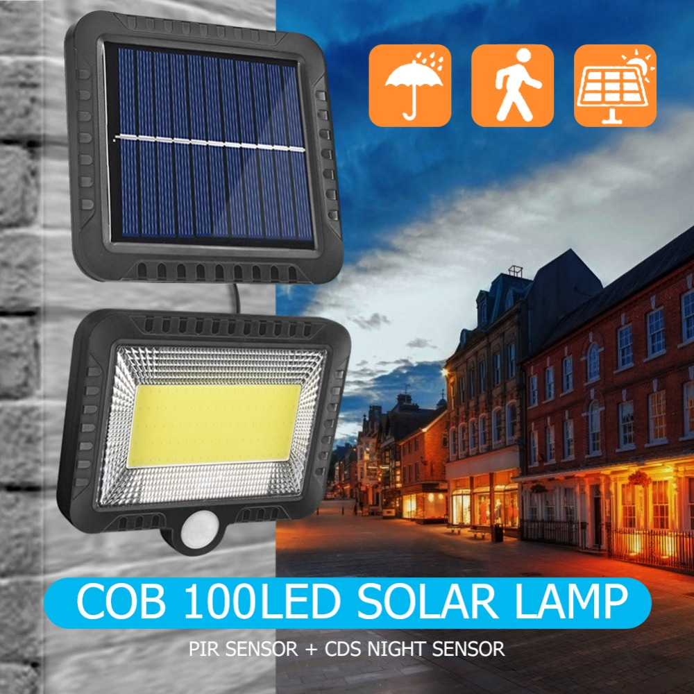 COB Wall Mounted Solar Outdoor Light with 120LED and Motion Sensor Suitable for Street and Garden 7