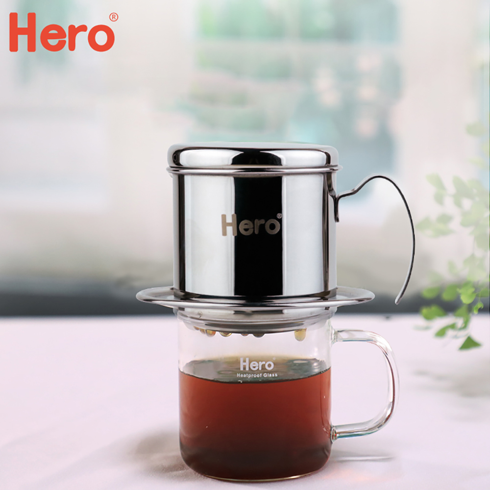 <font><b>Coffee</b></font> Pot Portable Stainless Steel <font><b>Vietnam</b></font> <font><b>Coffee</b></font> Dripper <font><b>Maker</b></font> Pour Over <font><b>Coffees</b></font> <font><b>Maker</b></font> Vietnamese Filter Cup Strainer Tools image