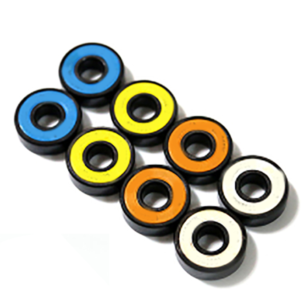 8pcs ABEC-9 Professional Double Cross Slide Bearings High Performance Roller Skate Scooter Skateboard Wheel