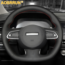 Steering-Wheel-Cover F7x-Accessories Haval Car Black Hand DIY for Artificial-Stitched-Leather