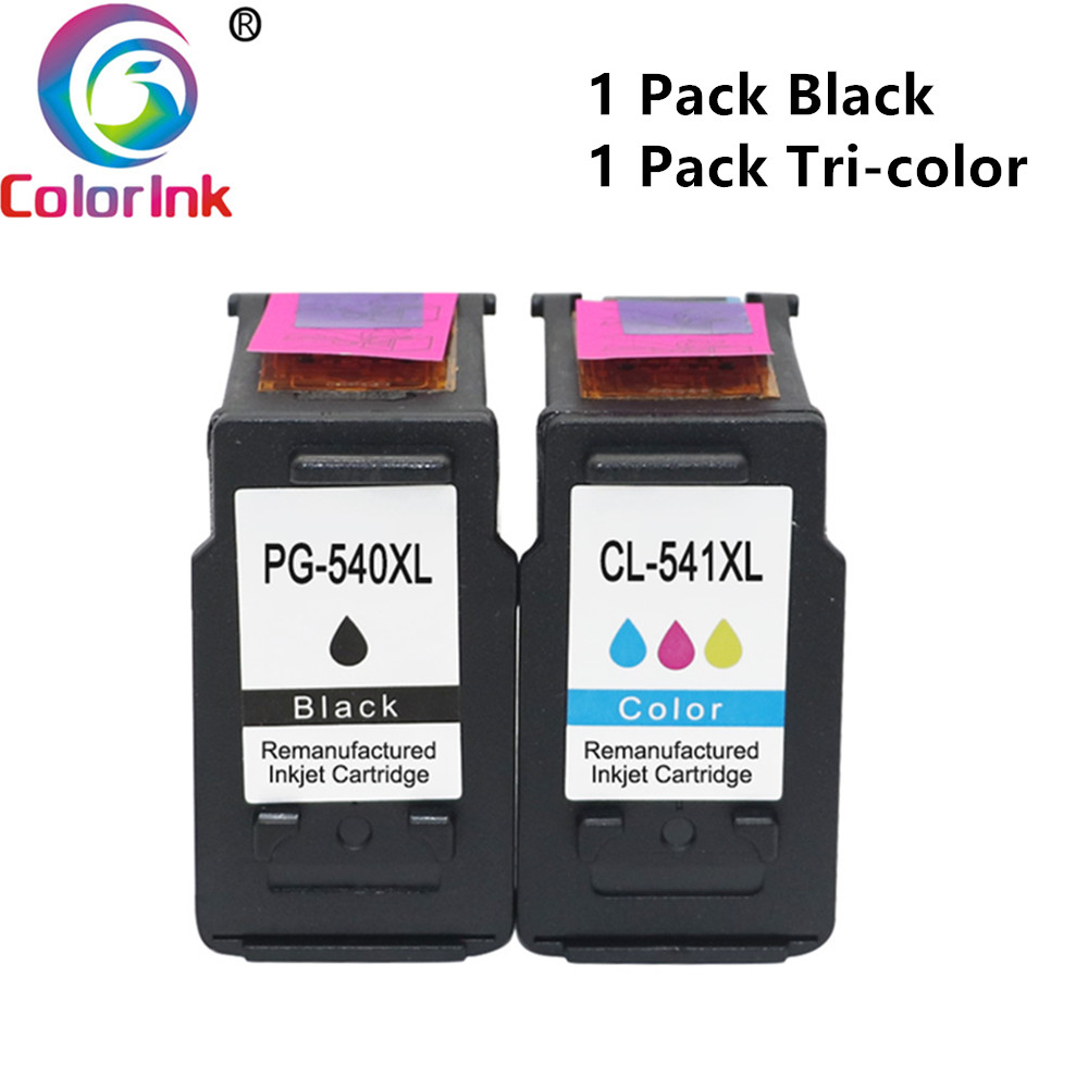 ColoInk 540XL 541XL Inkjet Cartridge For Canon PG540XL CL541XL Ink Cartridge MG2100 MG 2150 2200 M150 3200 3250 Printer