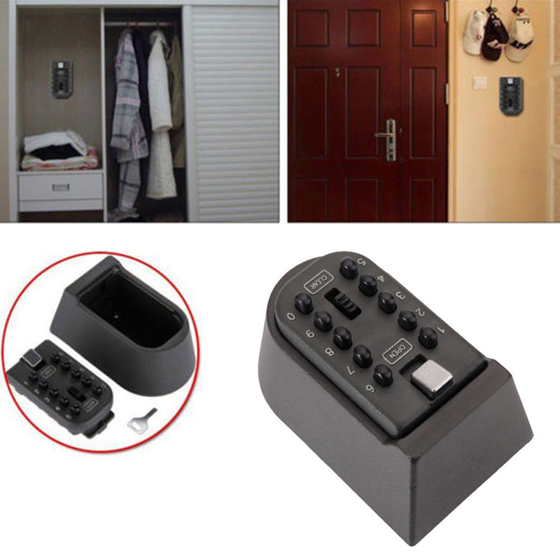 Key Safe Box Aluminium Alloy Wall Mounted Home Safety Password Security Lock Storage Boxes With Code XJ66