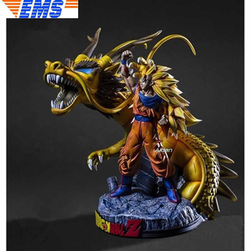 """18 """"Estátua de Dragon Ball Z Son Goku Super Saiyan Busto Somero 1/6 Full-Length Retrato Vegeta Ação GK CAIXA de Brinquedos modelo 45CM Z2821"""