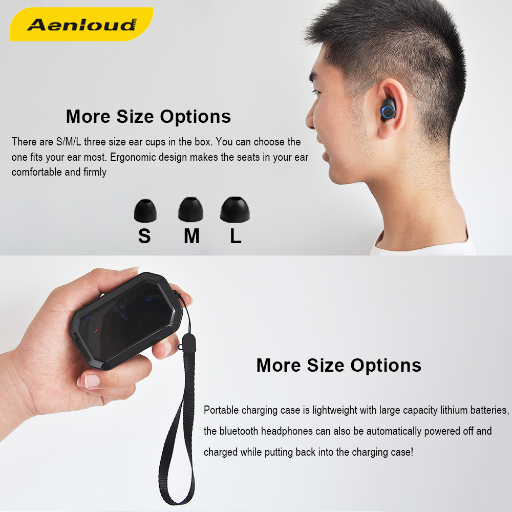 Clearance SaleTWS IPX7 Waterproof Sport Wireless Headphone Noise reduction Music Earphones Bluetooth 5.0 Automatic pairing Headset For Samsung