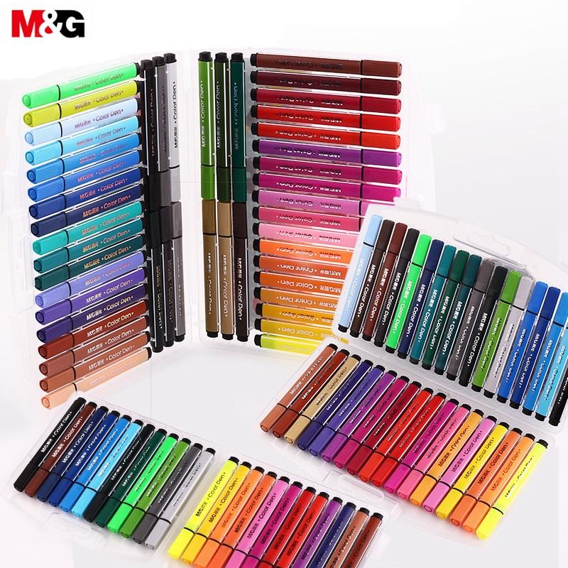 M&G Triangle Watercolor Pen 12/18/24/36/48 Color Graffiti Art Mark Drawing Sketch TCP92130