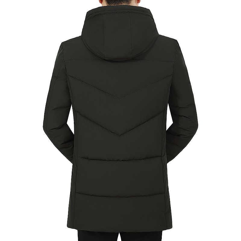 Мужские зимние куртки с капюшоном-20 градусов верхняя одежда теплая утепленная парка куртка мужская повседневная мода мужское пальто уличная