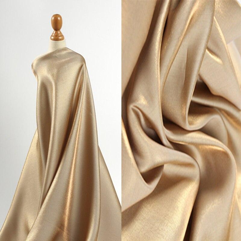 Супер мягкая ткань из золотого шелка с градиентом, высокая драпировка, блестящий атласный шелк, Шелковистое платье, свадебное платье, блест...