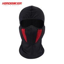 HEROBIKER Балаклава мото маска для лица мотоциклетная тактическая страйкбольная Пейнтбольная велосипедная Лыжная маска шлем крышка Пылезащитная мотоциклетная маска
