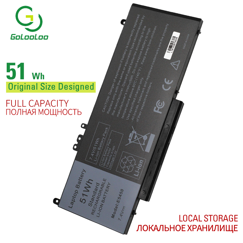 Golooloo 7.4V 51Wh Laptop Battery For Dell Latitude 3150 3160E5250 E5450 E5470 E5550 E5570 G5M10 7V69Y TXF9M 79VRK 07V69Y