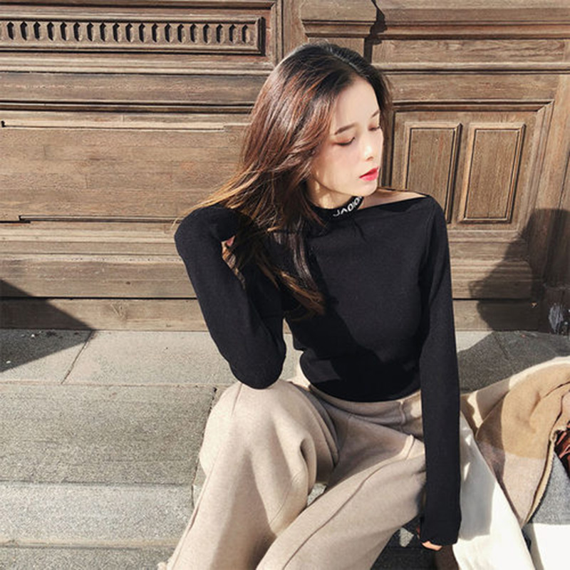 Mishow New Sweaters Female 2008 Autumn Winter Fashion Solid Long Sleeve Office Lady Jumper Solid Pullovers Women Tops MX18D5123
