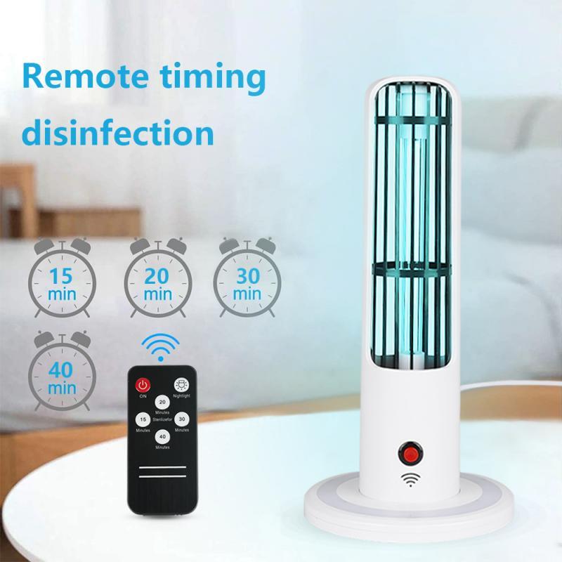 Professional UV Germicidal Lamp 20W Household Ozone Disinfection Lamp Remote Control Intelligent Sensing UV Lamp