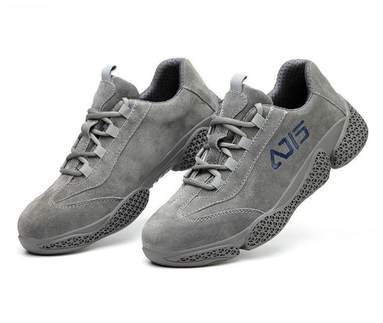 Image 3 - Дышащая кожаная защитная обувь с противоскользящим стальным носком, стальная подошва, устойчивая к прокалыванию, европейская стандартная сварочная Рабочая обувь-in Защитные сапоги from Безопасность и защита