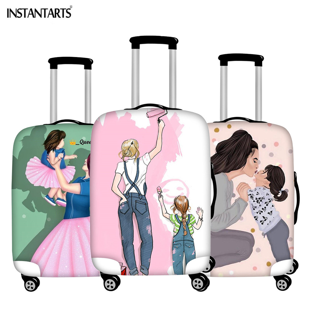 INSTANTARTS Luggage-Covers Suitcase Protective-Cover Travel-Accessories Waterproof Love-Design