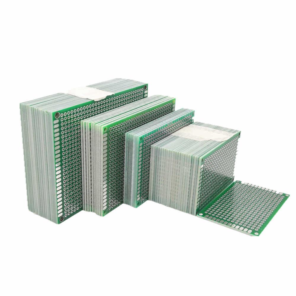 Dwustronnie miedzi prototypowa płytka drukowana 2x8 3x7 4*6 5x7 6x8 7x9 8x12 CM uniwersalne, drukowane obwodu płyta z włókna szklanego płyta dla Arduino