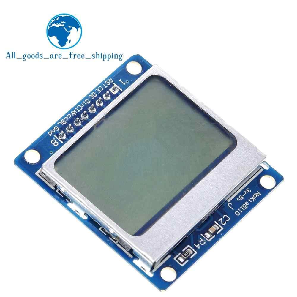 TZT inteligente electrónica módulo LCD Monitor de pantalla de fondo azul adaptador PCB 84*48 84x84 x lcd5110 Nokia 5110 pantalla para Arduino