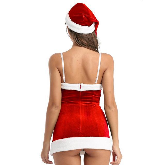 Sexy Velvet Santa Christmas Costume #C1534 3