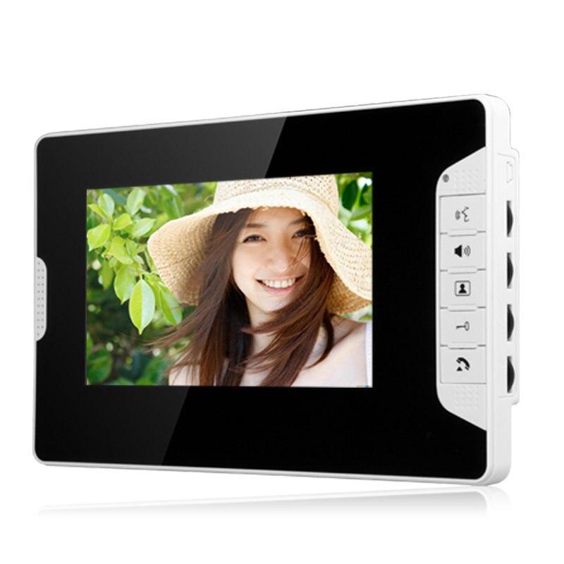 Video Deur Intercom 7''Inch 2pc LCD Bedraad Video Deurtelefoon Visual Video Intercom Deurbel Monitor Camera Kit Voor Thuis beveiliging - 2