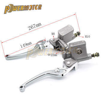 fx 7 8 50 550cc dirt pit bike motocross brake clutch lever master cylinder reservoir for aprilia rs50 1999 2005 aprilia rs125 Brake Pump Brake Master Cylinder Pump Brake Clutch Adjust Hydraulic Pump Master Cylinder Handlebar Racing For Dirt Pit Bike Atv