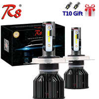 Car Tricolor Three Colors Compact LED Headlight Kits H1 H7 H4 H11 9005 9006 9012 9003 HB2 H8 Dual Color Bulbs White Yellow 3000K