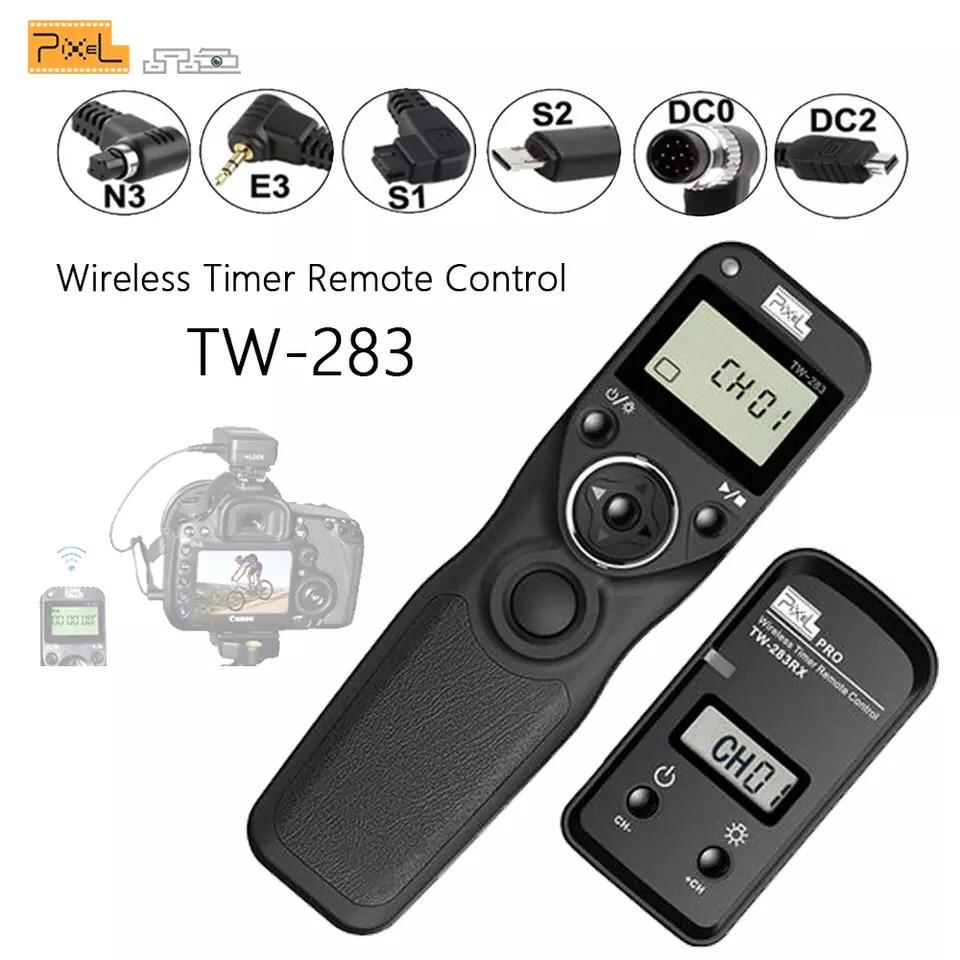 Pixel TW-283 беспроводной Таймер дистанционного управления спуском затвора (DC0 DC2 N3 E3 S1 S2) кабель для камеры Canon Nikon Sony TW283 VS RC-6