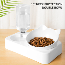 Cat-Bowl Storage Automatic-Water-Feeder Container Raised-Stand Pet-Supplies Food-Dish