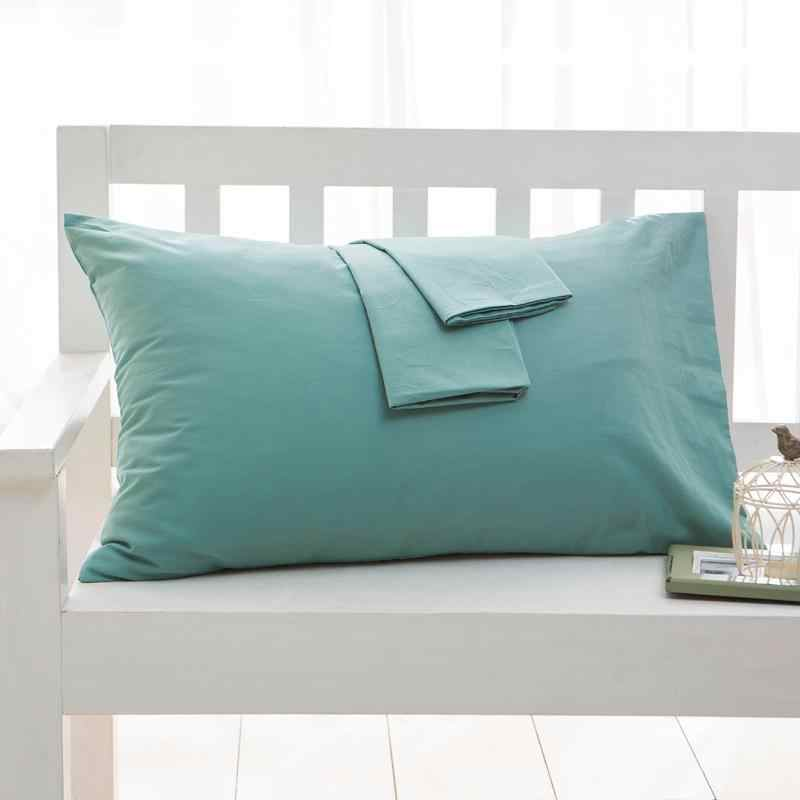 54 100% Cotton Solid Color Pillow Case Home One Pair Diagonal Printing Brief Style Pillowcase 70x70cm 50*70cm 50x75cm 47*150cm