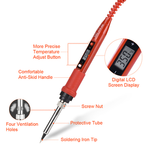 Image 3 - JCD Juego de caja de plástico para soldar temperatura ajustable, 220V 80W, kit de herramientas de reparación de soldadura con estera de trabajo de aislamiento térmico ESD
