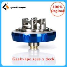 Original Geekvape zeus X Deck Electronic cigarette rebuildable Vaporizer Tank Vape Deck For zeus x RTA vape coils