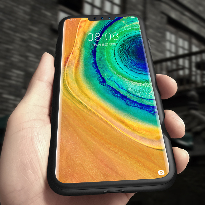 Luxury 360 <font><b>Full</b></font> <font><b>Cover</b></font> Matte Hard PC Phone <font><b>Case</b></font> For <font><b>Huawei</b></font> <font><b>Mate</b></font> 30 20 <font><b>10</b></font> 9 P40 P30 P20 <font><b>Lite</b></font> Pro Honor 20 Ultra-thin Frosted Coque image