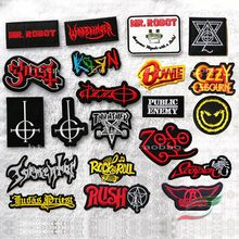 Punk band rock smile face cross A288 back tape stickers embroidery badge armband patch stickers clothing stickers(China)