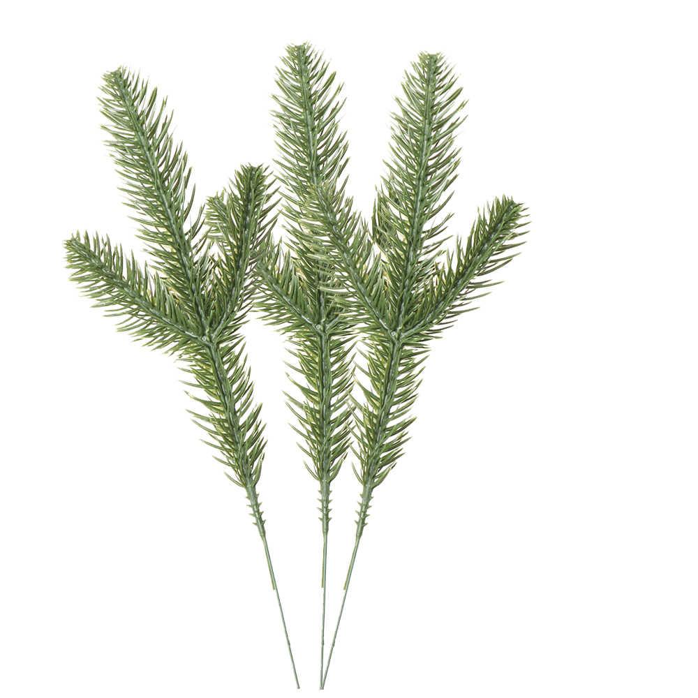 10 pcs/pack artificielle noël pin Branches fausses plantes fleurs artificielles fête de noël pour noël arbre ornements maison décors