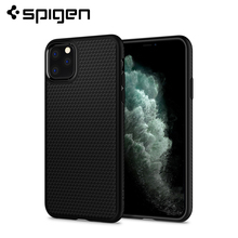 Spigen Liquid Air Series Cross Texture Flexible Soft TPU Lightweight Thin Fit Anti-Slip Matte Black Case for iPhone 11 Pro Max