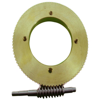 Stainless Steel Worm Tin Bronze Worm Gear Wear 1:90 Reduction Ratio Large Reduction Ratio Gear