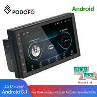 Podofo 2din Android 8.1 universel autoradio GPS Navigation wifi Bluetooth écran tactile Audio stéréo FM USB multimédia MP5 lecteur