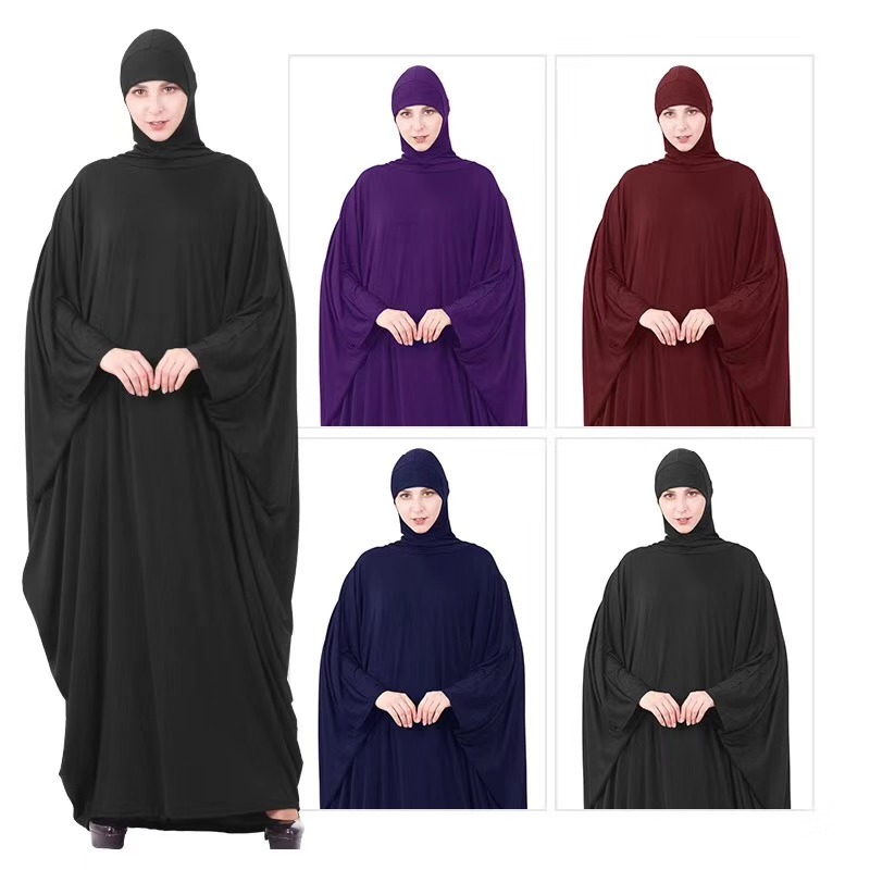Ramadan Islamic Clothing Prayer Dress Women Muslim Garment Hooded Dubai Turkey Namaz Long Thobe Hijab Jurken Abaya Vestidos