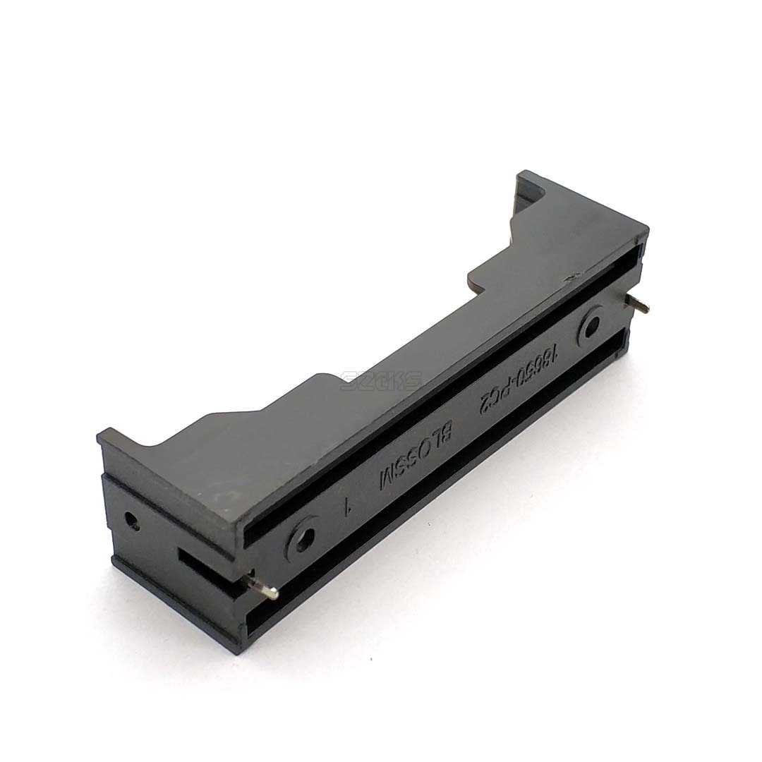 "Pil kutusu plastik DIY pil tutucu saklama kutusu 1 tek 18650 3.7V ""Pin ile 18650 pil tutucu"