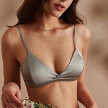 Pure silk bras for women Wireless Seamless brassiere Underwear push up thin padded sexy lingerie ladies Soft Healthy Pink