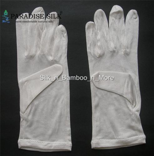 Silk Gloves 100% Pure Silk Liner Gloves Thermal Ski Inner Gloves Driving Cycling Party Gloves One Size