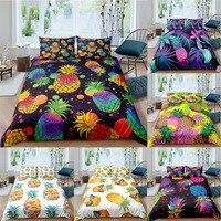 Set biancheria da letto ananas colorato tessili per la casa Twin Queen King Size Set copripiumino federa biancheria da letto Decor camera da letto