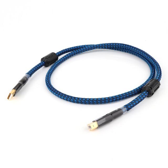 Hallo end 2/3/5ft Gold überzogene Audiophile USB DAC Kabel A zu B OCC Audio kabel hifi audio USB Kabel