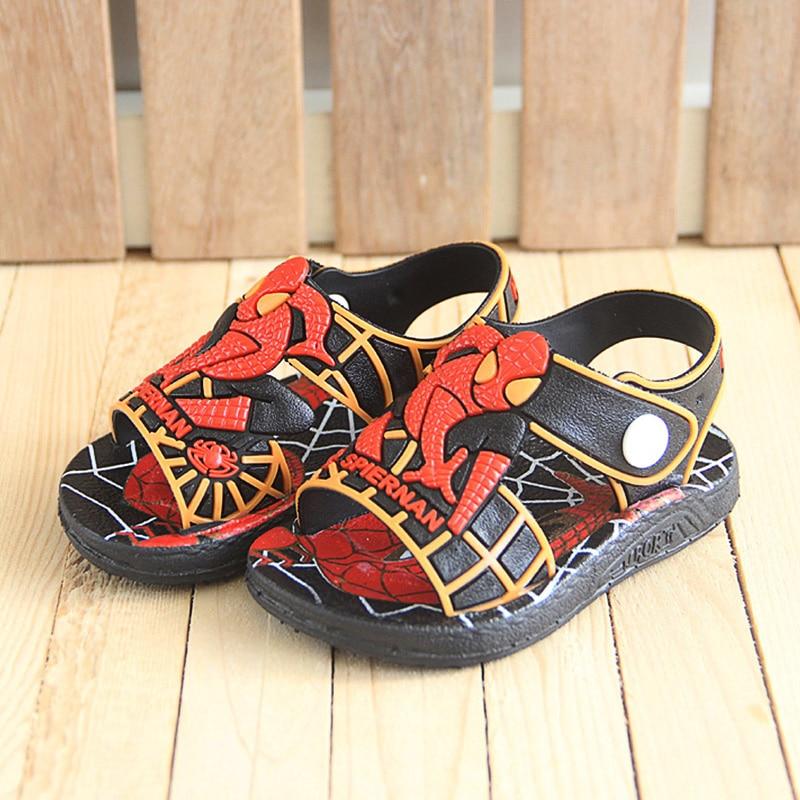 Image 3 - 2020 Летняя детская обувь; Модные сандалии для мальчиков с человеком пауком; Повседневные Нескользящие резиновые детские сандалии; Пляжная обувь для малышей; InfantilСандалии   -