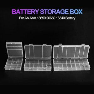 Image 2 - すべてのために18650 26650 16340電池ホルダー収納ボックス2 4 8 aa aaa充電式バッテリーコンテナオーガナイザー