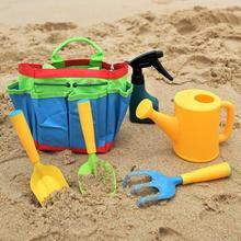 6 sztuk narzędzia ogrodnicze zestaw dzieci zabawki na plażę piasek narzędzia ogrodowa narzędzia ogrodnicze zestaw podlewanie czajnik dzieci dzieci przenośne narzędzia tanie tanio TONQUU 8 ~ 13 Lat