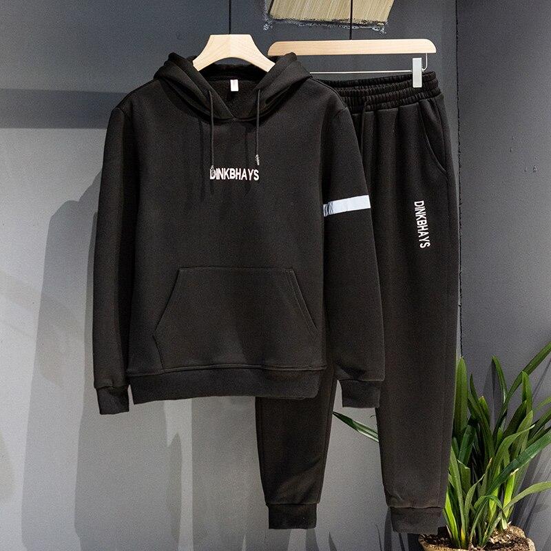 TheRang Mens Top Autumn Winter Letters Sweatshirt Pants Sets Sports Suit Tracksuit