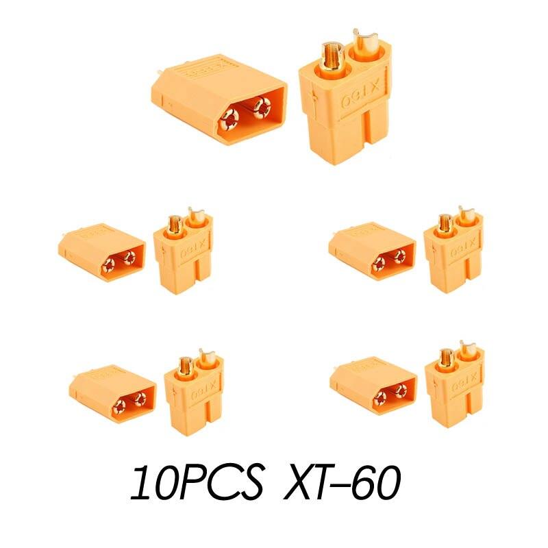 10 шт. XT60 XT-60/XT60+/XT30UPB мужской женский пулевые Разъемы Вилки F XT60 для RC FPV Lipo батарея RC Quadcopter(5 пар - Цвет: 10PCS XT60