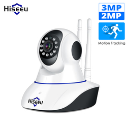 Hiseeu 1080P 1536P cámara IP cámara de seguridad inalámbrica para el hogar de vigilancia Wifi visión nocturna cámara CCTV 2mp bebé monitor