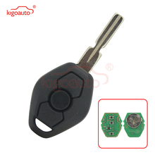 Kigoauto Replacement Remote Control Key 3 Buttons EWS System 434MHZ PCF7935 ID44 Chip HU58 For BMW 3 5 7 Series E38 E39 E46 key jingyuqin hu58 4 buttons remote key case for bmw e38 e39 e46 ews system ask 433mhz 315mhz with pcf7935aa id44 chip uncut blade